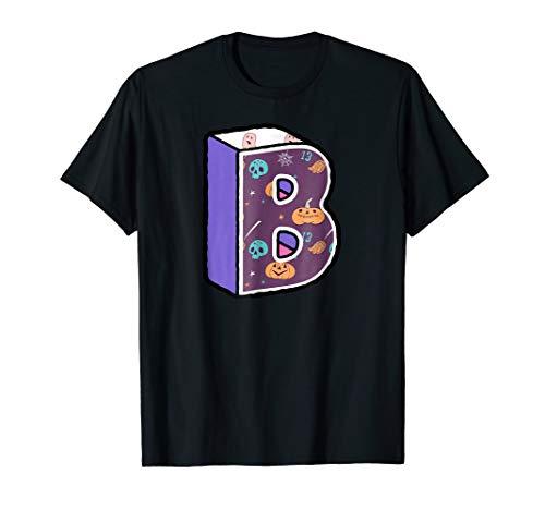Halloween Letter B Matching Alphabet Group Costume Shirt -