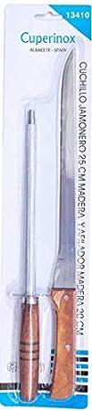 LEPANTO Tabla JAMONERA BANQUETA Nogal + Set Negro JAMONERO BANQUETA DE Madera con Cuchillo JAMONERO CHAIRA DE Regalo LepantoHouse (Natural, Cuchillo DE Madera)