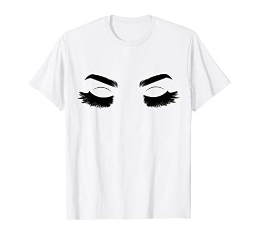 Queen Yellow T-shirt - Drag Queen Full Lashes Graphic T-Shirt