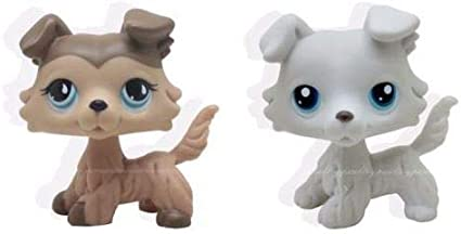 Littlest Pet Shop #363 Grey LPS Collie Dog Puppy Figure Toys Gift /& Accessories