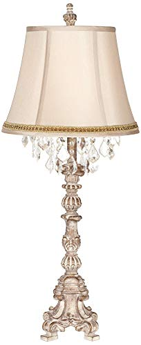 Braid Lamp - Duval French Crystal Table Lamp with Two Tone Braid Trim
