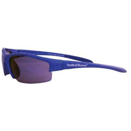 - Jackson 3016311 KC 21301 Safety Glasses, Smith & Wesson Equalizer, Blue Frame, Blue Mirror Lens, 1 Pair by Smith & Wesson