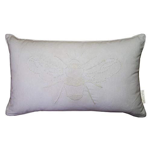 OFFICIAL LICENSED SOPHIE ALLPORT BEE WHITE COTTON FEATHER FILLED THROW PILLOW BOUDOIR CUSHION ()