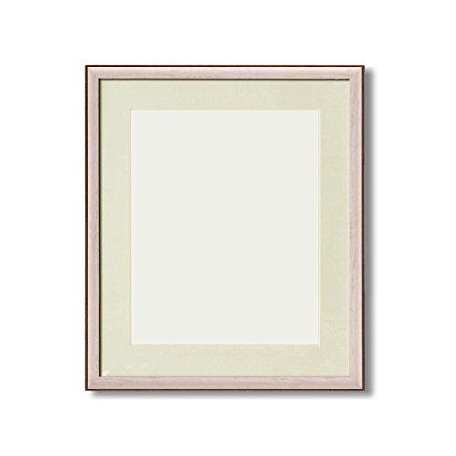 軽量水彩額縁/フレーム 〔F8号/ホワイト〕 壁掛けひも/UV(紫外線)カットアクリル/マット付き 化粧箱入り 8155 B075B5Y4LF