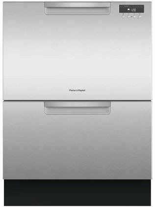 Fisher Paykel DD24DAX9 Double DishDrawer with Recessed Handle in Stainelss