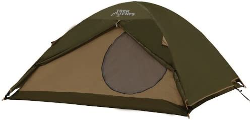 Trek Tents 217XT Nylon 190T 3 Person Dome 8 x 8 Tent w Rain Fly