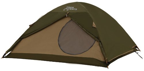 Trek Tents 217XT Nylon 190T 3 Person Dome 8' x 8' Tent w/ Rain Fly