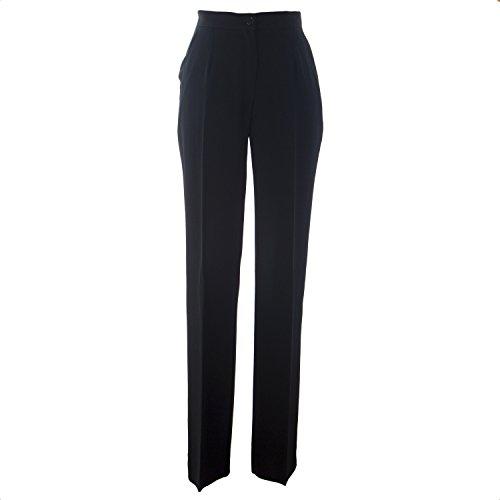 (Marina Rinaldi Women's Runway Dress Pants 8W / 17 Black)