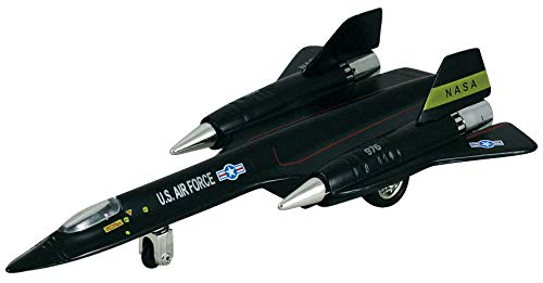 (Kinsmart Black X-Planes Air Force SR-71A Blackbird Die Cast Jet Plane Toy with Pull Back Action)
