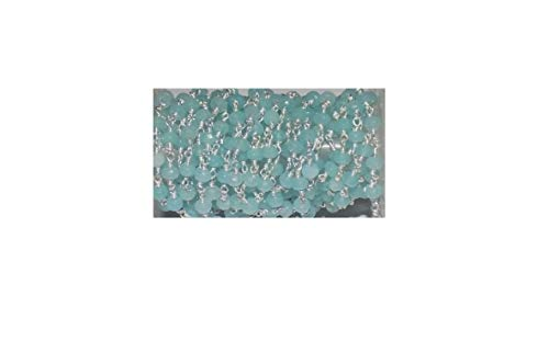 Mughal Gems & Jewellery 3-10 Feet Aqua Chalcedony Faceted Rosary Beaded Chain Silver Plated Wire 4-4.5mm (3 ()