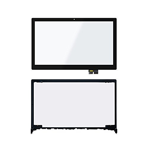 LCDOLED Compatible 15.6 inch Touch Screen Digitizer Front Glass Panel + Bezel Replacement for Lenovo Flex 2-15 2-15D 20377 20405 59422158 59422160