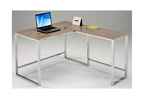 Meubletmoi Escritorio de Esquina 120 cm Mueble de Trabajo ...
