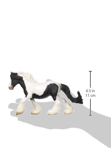 New Collecta Gypsy Mare and Foal Black and White Piebald Horse Toy Models