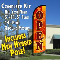 Open (Fall Theme) Windless Feather Banner Flag Kit (Flag, Pole, & Ground Mt) Review