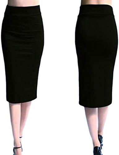 HEHEAB Falda,Las Mujeres Negras Falda Mini Falda Bodycon Oficina ...