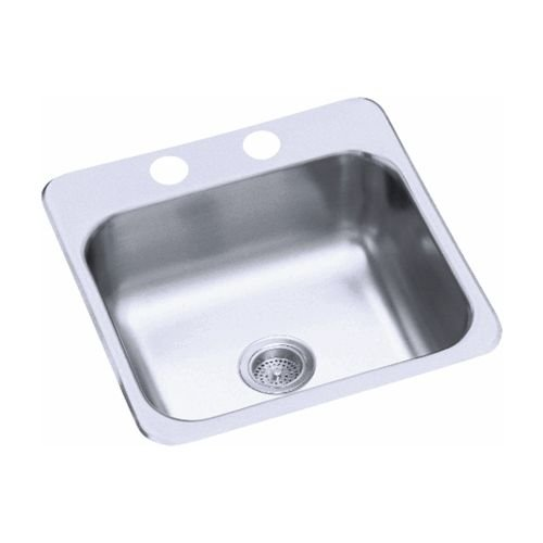 Bar Bowl (Sterling B153-1 Secondary Sink 15-Inch by 15-Inch Top-mount Single Bowl Bar Sink, Stainless Steel)