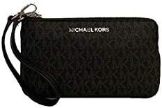 Michael Kors Jet Set Travel Large Top Zip Signature PVC Wristlet Clutch