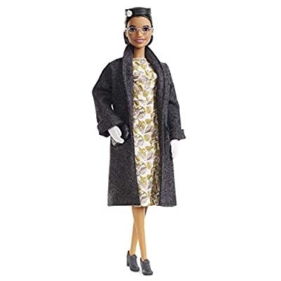 Barbie Inspiring Women Series Rosa Parks Collectible Barbie Doll, Wearing Fashion and Accessories, with Doll Stand and Certificate of Authenticity: Toys & Games