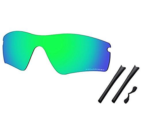 Saucer Premium Replacement Lenses & Rubber Kits for Oakley Radar Path Sunglasses High Defense - Jade Green ()