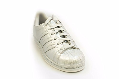 Adidas Silver Superstar Trainers Womens Mono Leather wqPwaOv