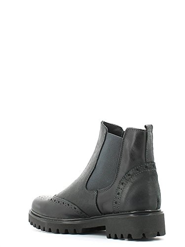 Grünland ARENA SA1043 de la sandalia de tacón negro de la correa de la mujer estorbo negro