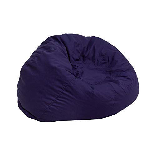 (JMiY Personalized Small Solid Navy Blue Kids Bean Bag Chair Embroidered with Your Child's)