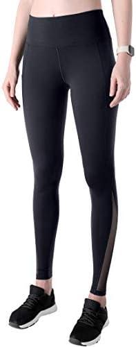 GUAHUAXIANG Black Checkered Womens Funny Print Yoga Leggings Pants Sport Capri Leggings Workout Pants Gym Tights WhiteLarge