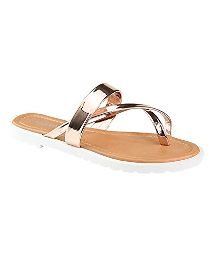 Bella Marie by Anna Shoes Womens Oro-10 Rosegold 5kA0b