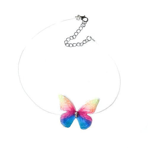 Wansan Girl Clavicle Chain Transparent Fish Line Material Butterfly Shape Decoration