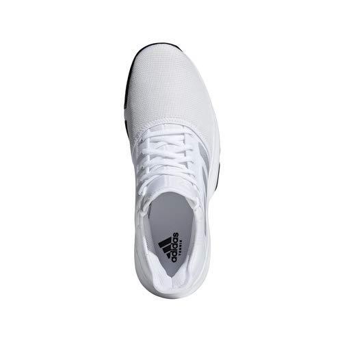 adidas Men's Gamecourt, White/Matte Silver/Black, 7.5 M US by adidas (Image #7)