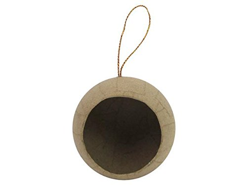 Paper Mache Ornament - Craft Ped Paper CPL1001163 Mache Ornament 1/2 Ball Open Kraft