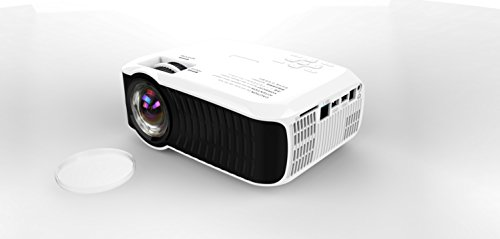 Best price for L-WING LW-22 Portable Android 2200 Lumens 1280×800 resolution Portable LED Projector with BT WIFI RJ45 USB SD for 1080P Home Cinema Theater Video Games Movie (White)