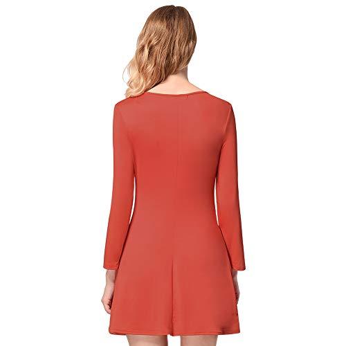 Robe l Petite Neige Automne Bonhomme No pour Costume l Manches Hiver De Red La Red L Cadeau l De Robe De Amie Femme No Femme Imprimer Elk No Longues nSPq8x1OPw
