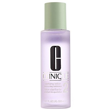 (Clinique Clarifying Lotion Twice a Day Exfoliator 2 Dry Combination Skin, 6.7oz, 200ml)