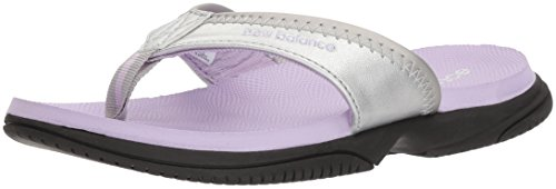 Kids Thongs (New Balance Unisex-Kids JoJo Thong Flip-Flop, Silver/Violet, P3 M US Little Kid)