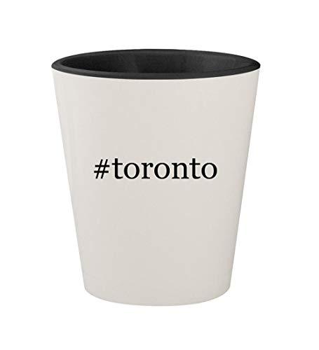 - #toronto - Ceramic Hashtag White Outer & Black Inner 1.5oz Shot Glass