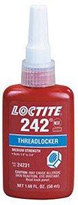 6/PACK LOCTITE THREADLOCKER 242-MED. STRENGTH BLUE-36ML BOTTLE