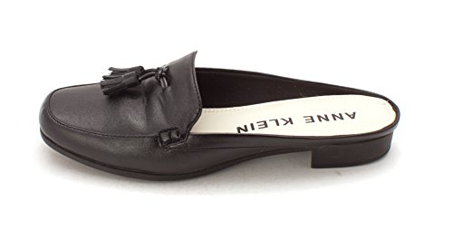 Anne Klein Womens Victorine Closed Toe Formal Slide Sandals, Black Sy, Size 7.0