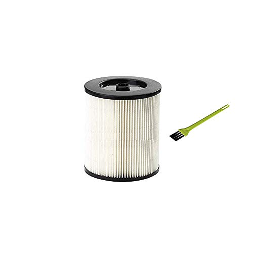 Price comparison product image VideoPUP 1Pack Replacement Vacuum Cleaner Filter Compatible with Shop Vac Craftsman 9-17816 Wet Dry Vacuum Air Cartridge Filter with 1PCS Small Brush for Free