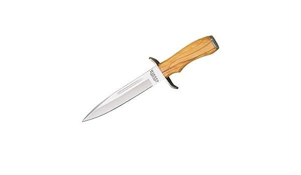 Cuchillo de remate con puño de Olivo y Hoja de 18 cm, con ...