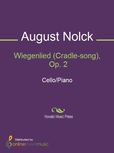 Wiegenlied (Cradle-song), Op. 2 - Piano Score
