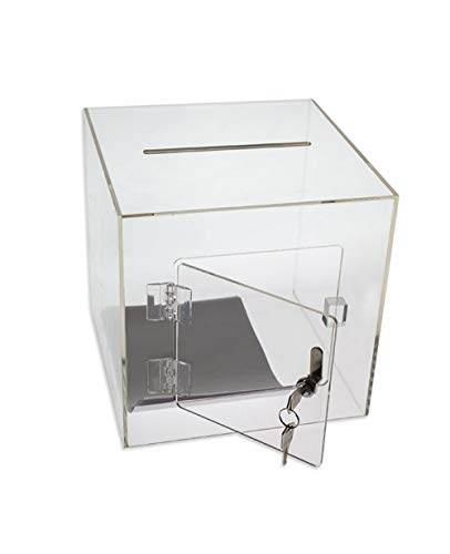 SOURCEONE.ORG Source One Premium Acrylic Cube Donation Box with Deluxe
