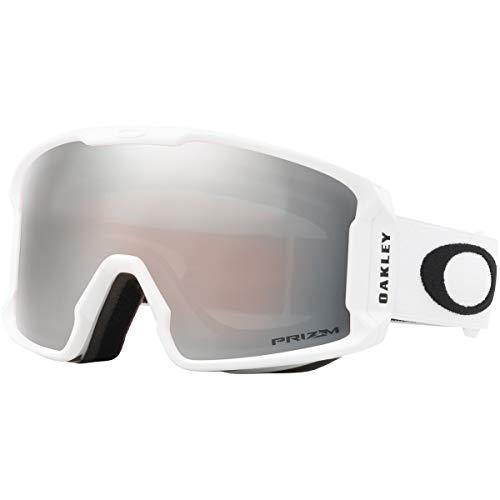 f75e58b764c Oakley Line Miner Adult Snowmobile Goggles - Matte White Prizm Black  Iridium Medium