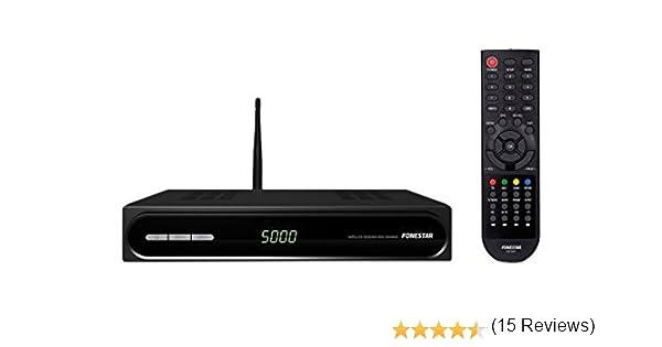 Fonestar RDS-583WHD - Receptor satélite HD DVB-S2/MPEG-4/MPEG-2 (salida HDMI, función PVR, reproductor multimedia, puerto USB, ethernet, Wi-Fi), color negro: Amazon.es: Electrónica