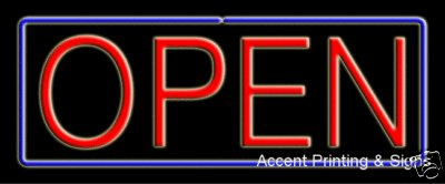 Open Handcrafted Real GlassTube Neon Sign