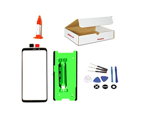 (md0410) Black Front Outer Glass Lens Replacement Compatible Galaxy S8 Plus + Repair Tools Kit G955 G955U G955A G955T G955V G955P (LCD Digitizer Touch Screen not Included)