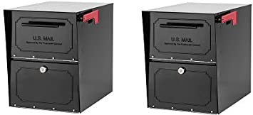Parcel Delivery Mailbox For Home High Security Reinforced Lock Extra Large Black