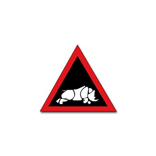 1 British Tank Division British Army England unit rhinoceros badge emblem for Audi A3 BMW VW Golf GTI Mercedes (8x7cm) - Sticker Wall Decoration
