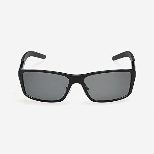 Cuadrada Gafas Clásico Black gray Conducción De Gray UVA Polarizada Libre Protección Sol Hombres Gray Solar Caja Gafas WYYY 100 Protección Anti Gafas Aire UV De Color Luz gwqF7Iz