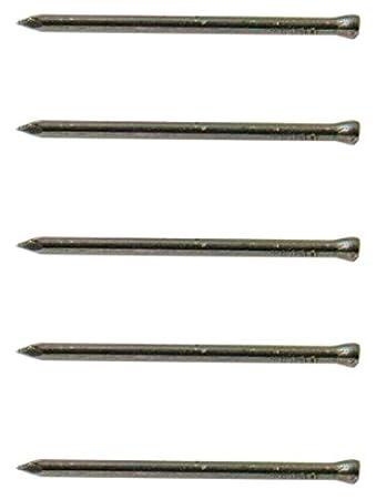 25 mm Set di 100 Pezzi Quantit/à 100 G Bianco Finitura Lucida Bulk Hardware BH03712 Chiodo in Acciaio per Pannelli